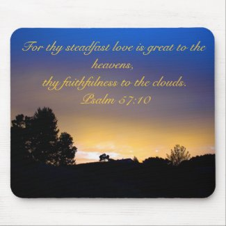 Mousepad: Sunset with Scripture mousepad