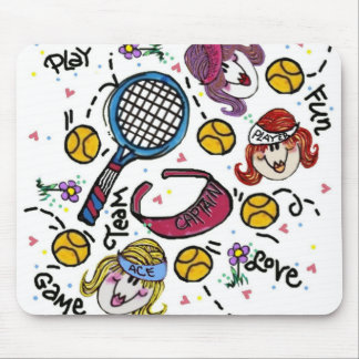 Mousepad -Tennis Girls