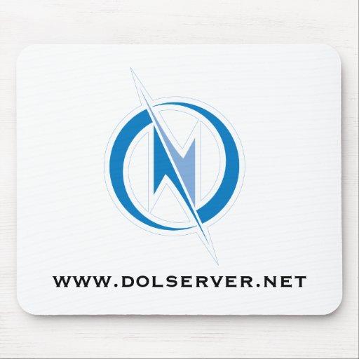 Mousepad - texto del logotipo W. de DOL (COLOR) Tapetes De Ratón