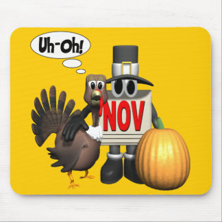 Mousepad - Thanksgiving Turkey