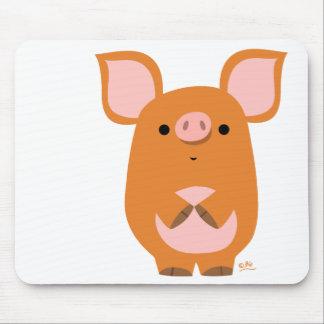 Mousepad tímido del cerdo del dibujo animado tapete de raton