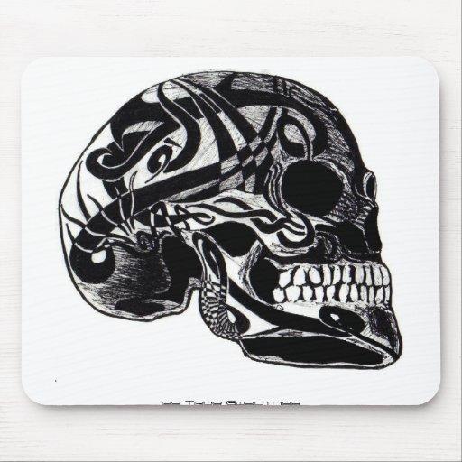 Mousepad tribal del cráneo 3 tapete de ratón