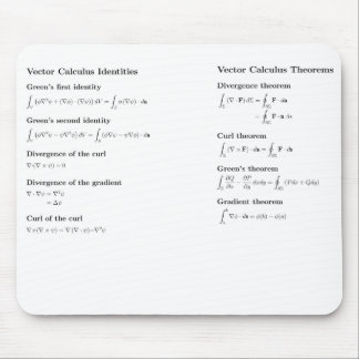 Mousepad: vector calculus mouse pad