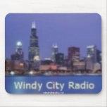 Mousepad ventoso de la radio de la ciudad tapetes de raton