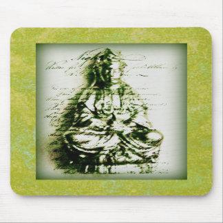Mousepad verde antiguo de Kwan Yin Alfombrilla De Raton