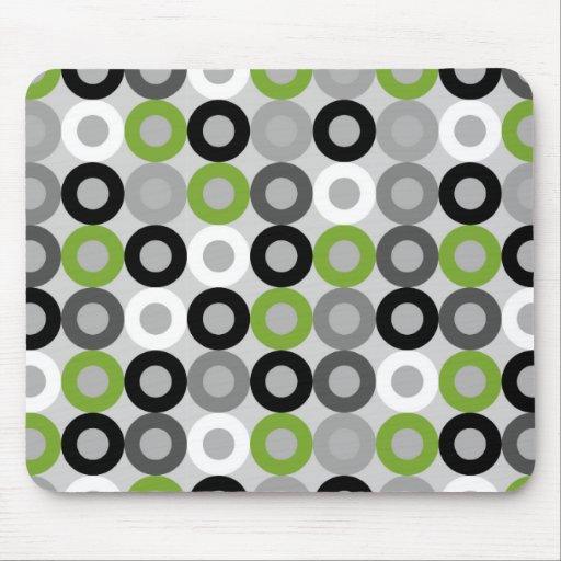 Mousepad verde, blanco y negro moderno de los punt alfombrillas de ratones