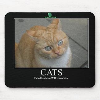 Mousepad VERDE de los GATOS de las PRODUCCIONES WT