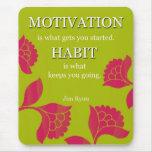 Mousepad verde de motivación tapete de raton