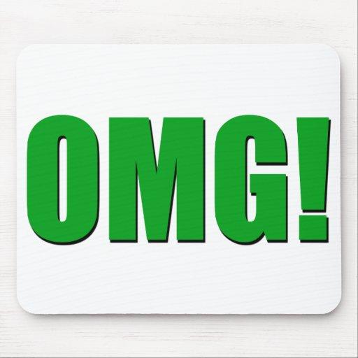 Mousepad verde de OMG Tapetes De Raton