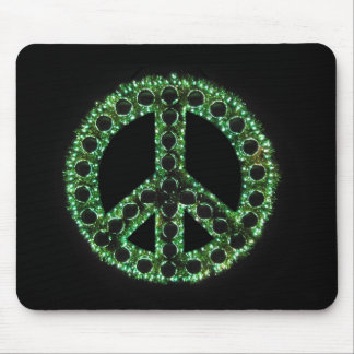 mousepad verde del signo de la paz