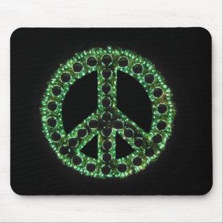 mousepad verde del signo de la paz tapete de ratón