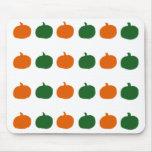 Mousepad verde y anaranjado de las calabazas tapetes de ratones