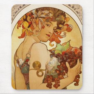 Mousepad Vintage Art Alfons Mucha Fruit Mousepad