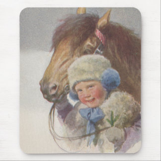 Mousepad Vintage childhood memory bay pony pet