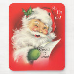 Mousepad, Vintage Christmas Santa Claus Mouse Pad