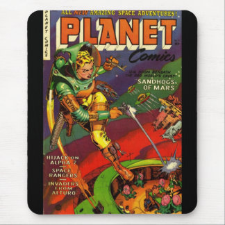 Mousepad Vintage Comic Book Covers