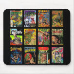 Mousepad Vintage Comic Book Covers Collage Mouse Pad