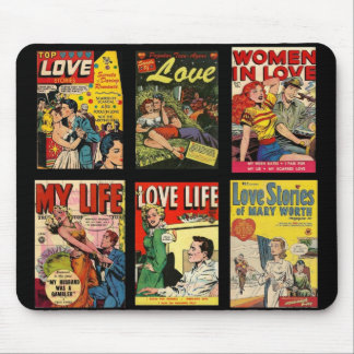 Mousepad Vintage Comic Book Covers Love Stories