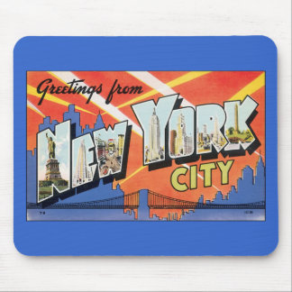 Mousepad-Vintage New York City Post Card Mouse Pad