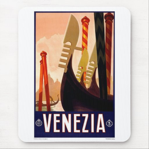 Mousepad-Vintage Venezia, Italy, Advertisment