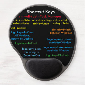 Mousepad w/ Shorcuts Gel Mouse Pad