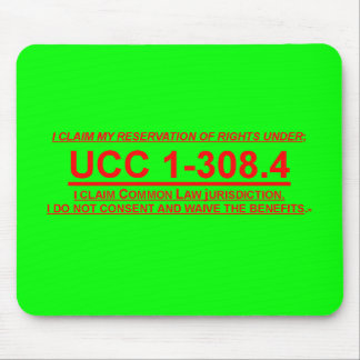 Mousepad w/ UCC 1-308.4 Claim of Rights
