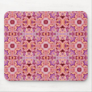 Mousepad with a Purple and Orange Pattern
