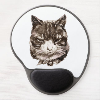 Mousepad with a vintage cat Illustration