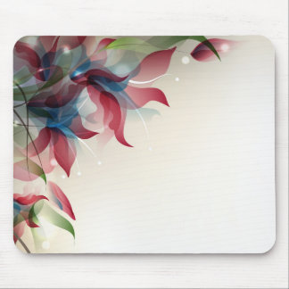 Mousepad with abstract floral design
