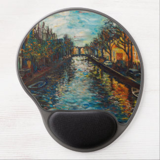 Mousepad with Amsterdam`s view Gel Mouse Pad