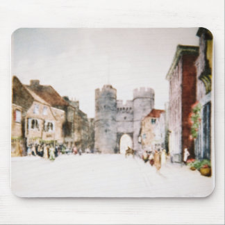 Mousepad with 'Canterbury Tower Gate' image