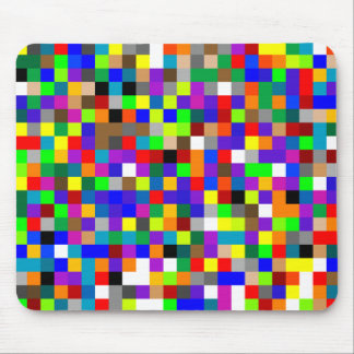 Mousepad with Colorful Squares Design Mouse Pad