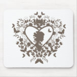 Mousepad with decorative heart pattern