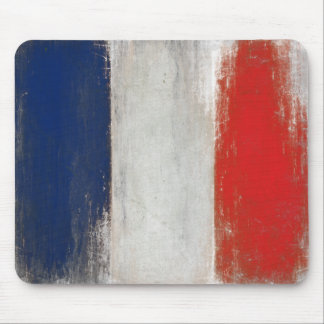 Mousepad with Dirty Vintage Flag from France