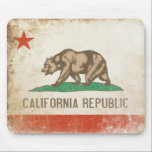 "Mousepad with Distressed California Republic Flag<br><div class=""desc"">Cool mousepad with distressed vintage flag from California Republic. We change and add both text and colors,  as well as size and placement,  all upon request. Contact us with your unique needs and we do the rest!</div>"
