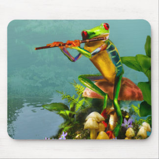 Mousepad with Flute Playing Frog