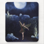 Mousepad with Goth Angel & Skulls