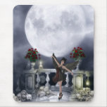 Mousepad with Gothic Angel Dancing & Moon