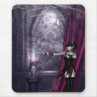 Mousepad with Gothic Fantasy Girl in Spooky Room