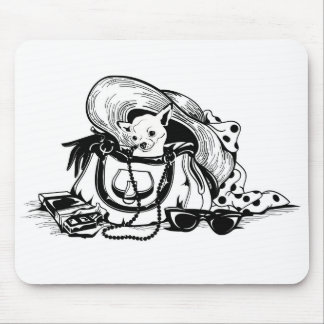 Mousepad  with graphic dog in bag picture