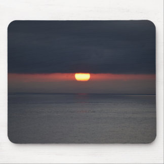 Mousepad with gray sunset