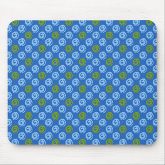 Mousepad With Koru Pattern In Blue And Green