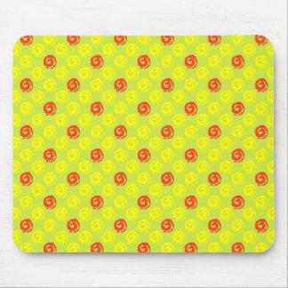 Mousepad With Koru Pattern In Yellow And Orange