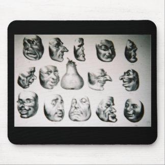 Mousepad with 'Masques de 1851' image