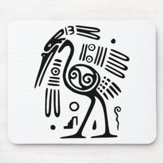 Mousepad With Mayan Bird Design