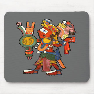 Mousepad with Mayan indian warrior