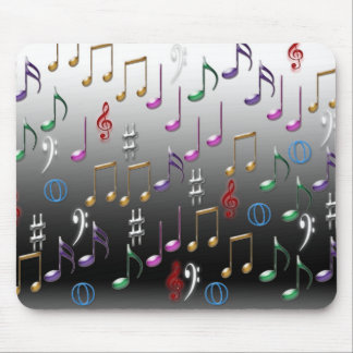 Mousepad with musical notes design