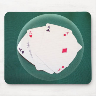 Mousepad with Poker of aces