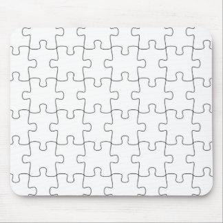 Mousepad with puzzle parts motive
