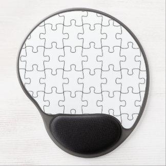 Mousepad with puzzle parts motive gel mouse pad